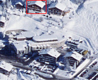 aerial view of the apartment and the Medran ski lift station